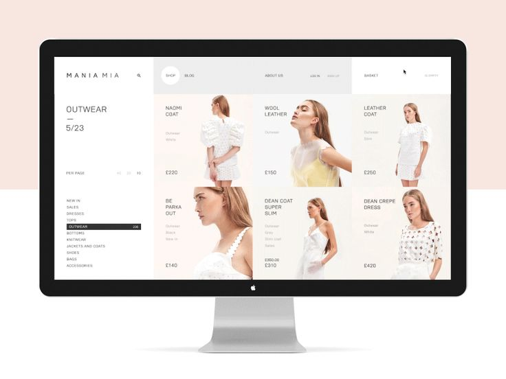 Mania Mia fashion store. Products page animation. The process. Mania Mia on Behance UI/UX — Alexander Laguta Don't forget to follow us on Behance Thank you!
