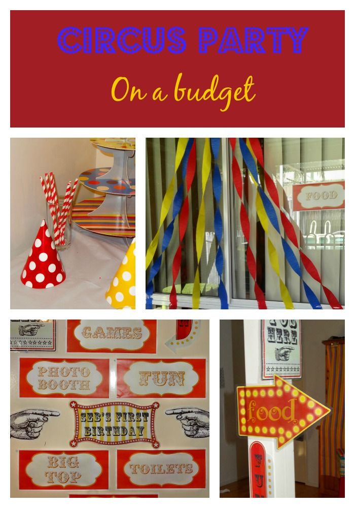 Plan a Circus Party on a budget - decorations and a theme that won't break the bank!