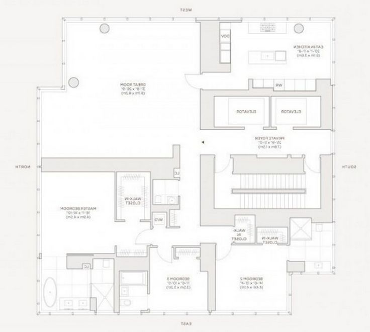 Apartment: Penthouse Floorplan Modern Apartment On New York City With Clever Room Arrangement: Awesome Apartment At New York City By Famous Home Designer
