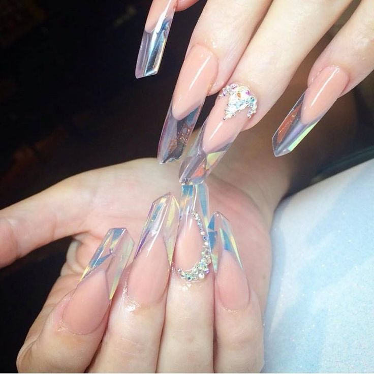 Crazy crystal-looking nails