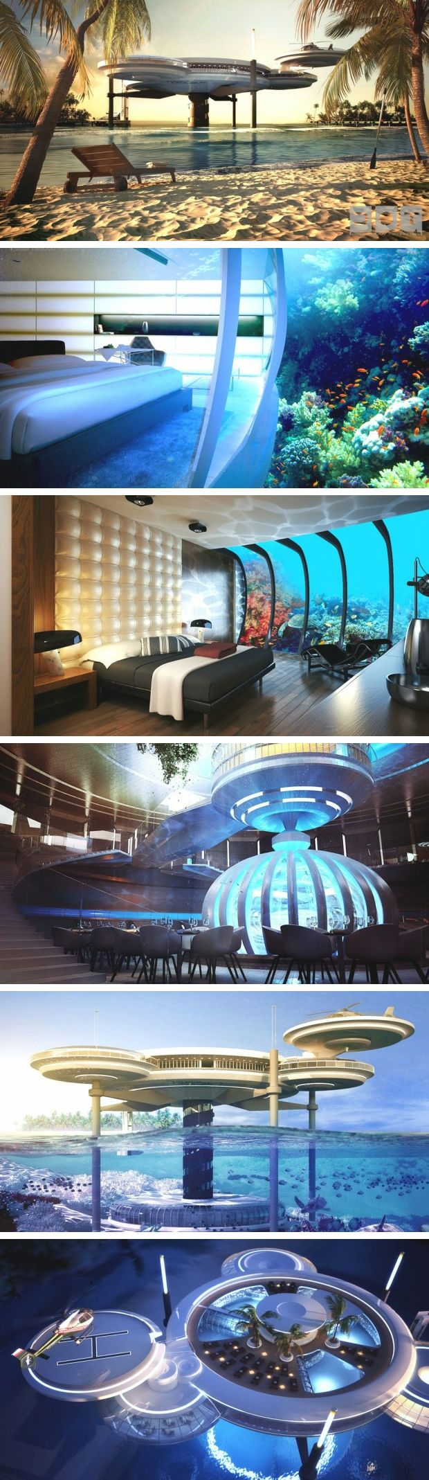 I have no words for this... (Water Discus Underwater Hotel Concept, Dubai | Deep Ocean Technology.)