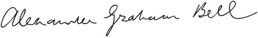 Alexander Graham Bell (signature) - Alexander Graham Bell – Wikipedie