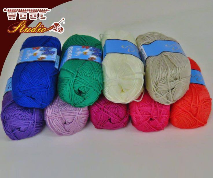 Get your #Saten yarn at #WoolStudio and knit something wonderfully colourful! #yarnaddicts