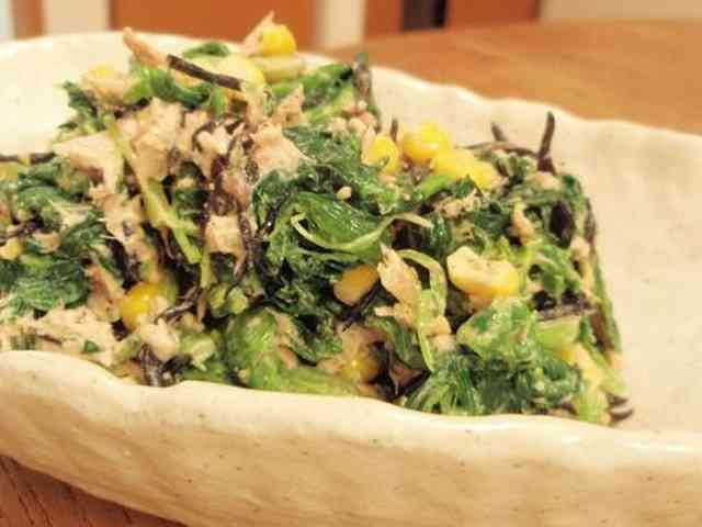 ほうれん草とひじきの鉄分強化サラダの画像