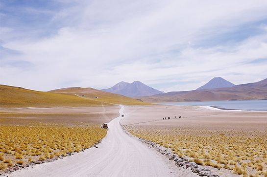 Location: Atacama Desert, ChileWhy You Have To Go: You will feel like you are on the moon. Best Time Of Year: August through OctoberPro Tip: To reach this part of the Atacama desert, you would usually fly into Santiago, Chile then connect to Calama, then drive (a good easy road) to San Pedro de Atacama — which is your base to explore. There is an area with tons of flamingos, which is a must-see. #refinery29 http://www.refinery29.com/tiny-atlas-amazing-travel-trips#slide-15