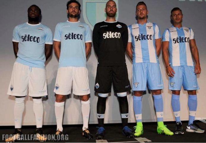 SS Lazio 2017/18 Macron Home and Europa League Kits