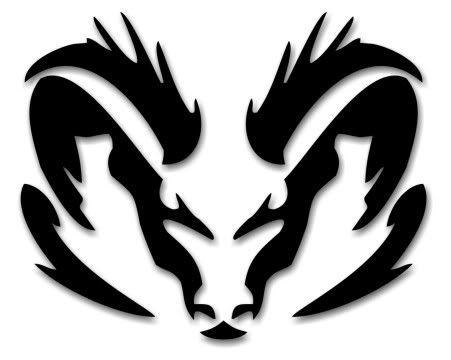 Rams Head Tattoo Design