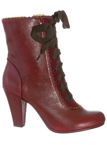 Femme Victorian Burgundy Boots at PLASTICLAND