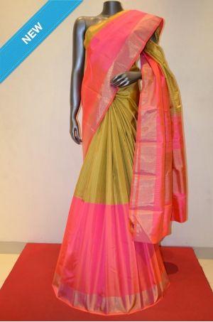 Half and Half Pure Kanchipuram Silk Saree Product Code: AB203735 Online Shopping: http://www.janardhanasilk.com/Half-and-Half-Pure-Kanchipuram-Silk-Saree?search=AB203735&description=true