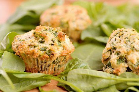 Muffiny se špenátem a plísňovým sýrem jsou vydatné; Greta Blumajerová