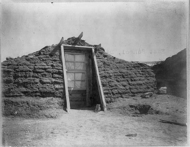 East School, District 15, Logan County, Colorado [adobe? building]  1909