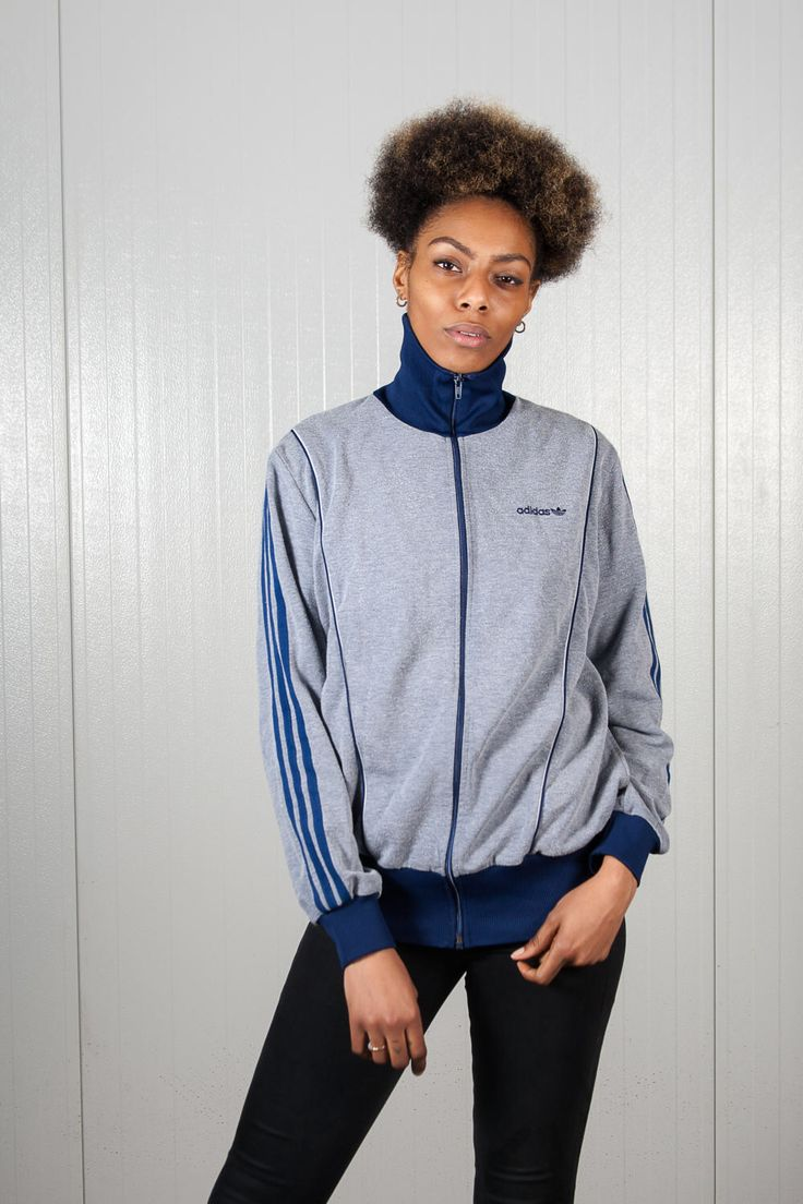 Blue vintage Adidas jacket. Shop it here: https://www.etsy.com/nl/listing/519088205/licht-blauw-vintage-adidas-jas-70s