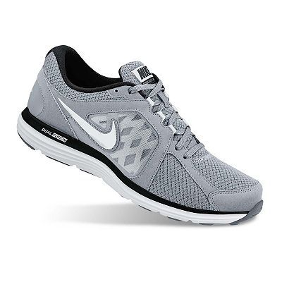 nike mens dual fusion running shoe - grey\/silver highlights
