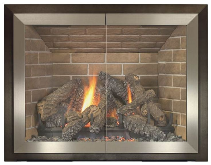 "Tribeca fireplace door is made from 3/16"" steel and door frame is extruded aluminum. A trendy style with hip colors for any contemporary room. You can achieve great contrast with a deeper colored main frame and a light door stile finish.   INSTALL DOOR ONLY ON MASONRY FIREPLACES!  Download Instruction ManualInstallation: E for Especially Easy!Lintel clamps, allen wrench and set screws make the installation a breeze. Door is held in place at the top with lintel clamps and at ..."