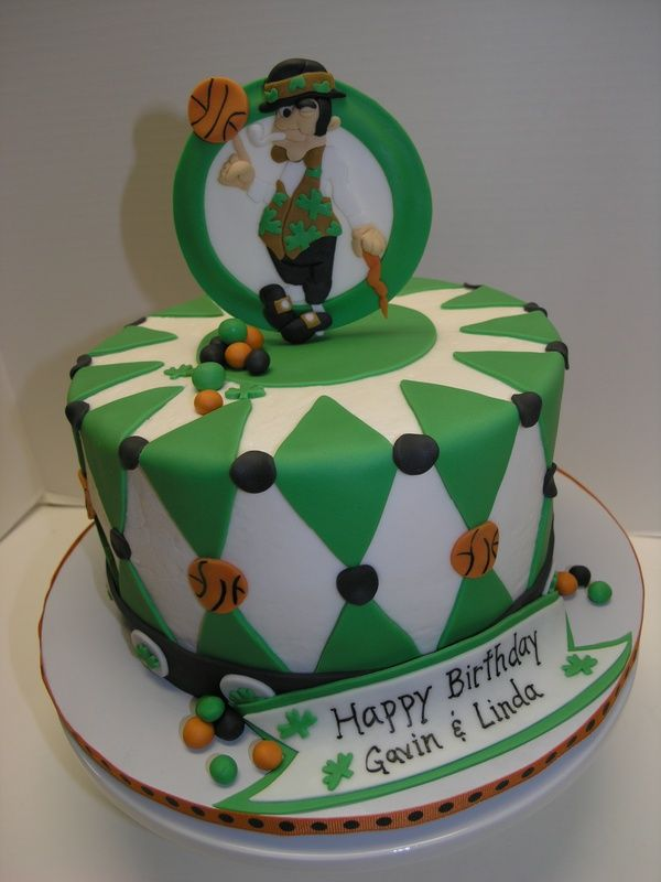 32 best Boston Celtics Cakes images on Pinterest Anniversary cakes