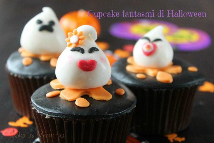 Cupcake fantasmi di Halloween di pasta da zucchero | Status mamma