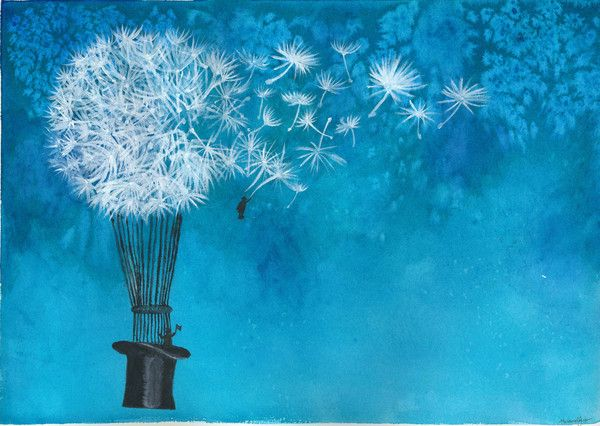 Dandelion Travel Watercolor