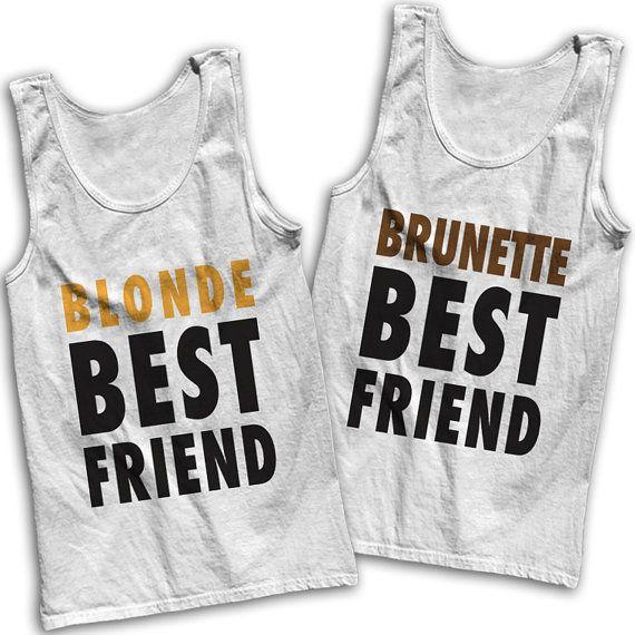 Blonde & Brunette Best Friends Tees by AwesomeBestFriendsTs