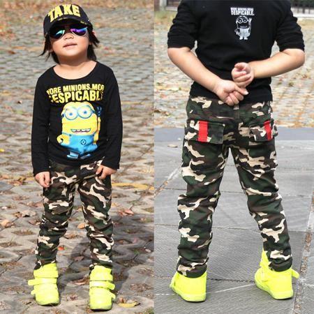Детская одежда детей мальчиков брюки камуфляж брюки для мальчиков и непринужденной форме CS брюки хлопок Спорт ноги стрейч штаны  — 1790.47р.