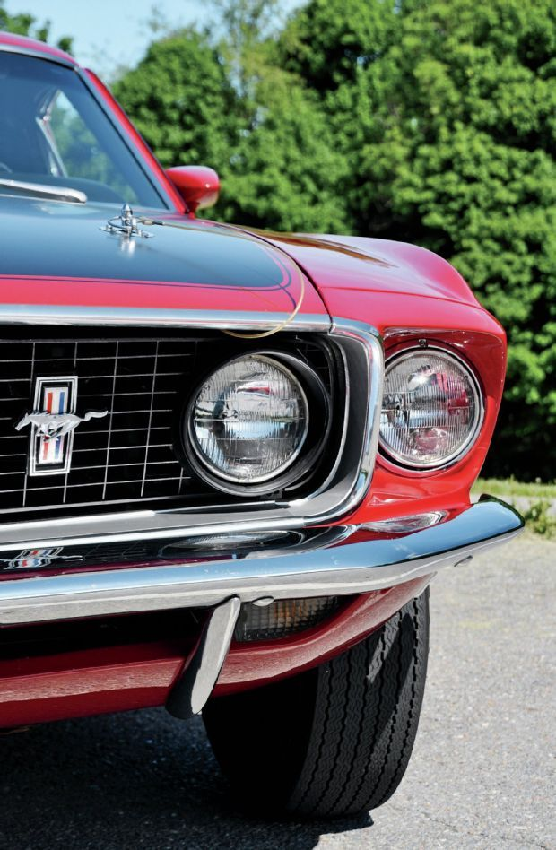1969 Ford Mustang Headlight