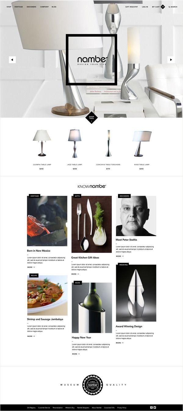 Nambe Website   Kyle Gabouer   Design