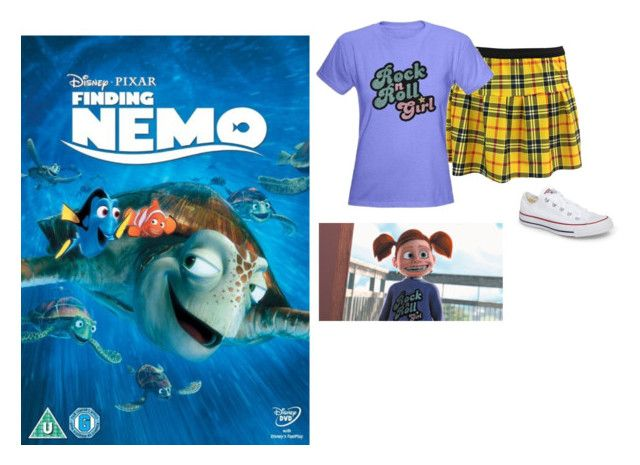 """Darla - Finding Nemo"" by sadnessx ❤ liked on Polyvore featuring Converse, contest, outfit, girl and girlpower"