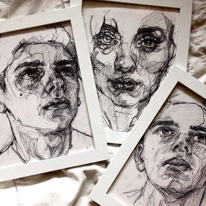 Elly Smallwood - charcoal sketches
