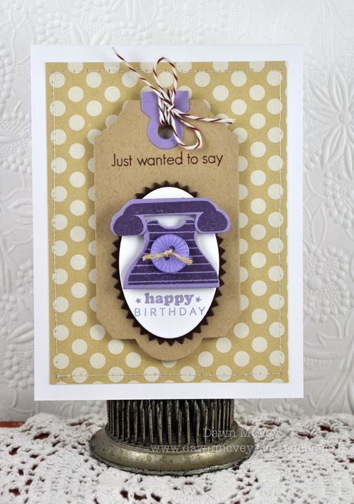 Birthday Telephone Card by Dawn McVey for Papertrey Ink (May 2012): Happy Birthday, Cards Fram, Cards Birthday, Telephone Cards, Papertrey Ink, Birthday Tags, Cards Telephone, B Day Cards, Birthday Telephone