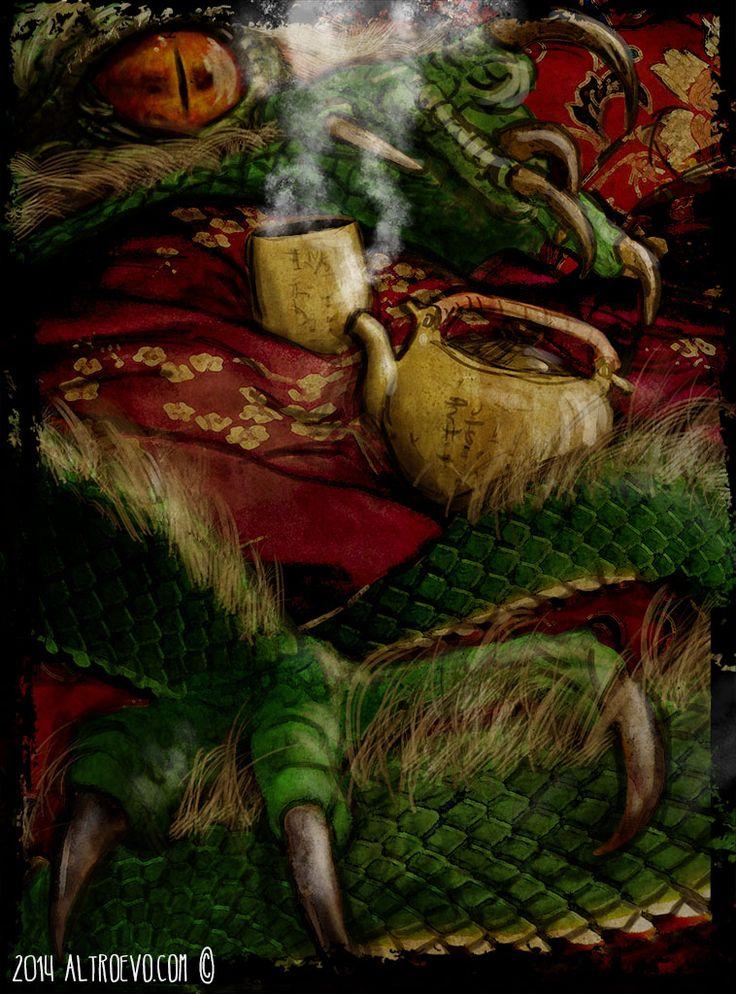 """Digital painting per """"Il Giorno del Dragon"""". Un incontro pericoloso! #drago #dragon"""