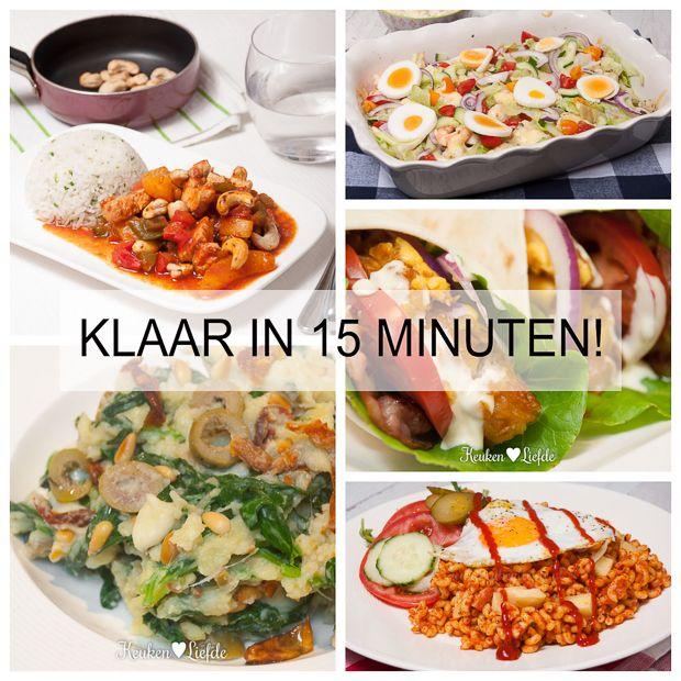 Deze maaltijden staan in een recordtempo op tafel en zijn ook nog eens ontzettend lekker. Wie wordt daar nou niet blij van!
