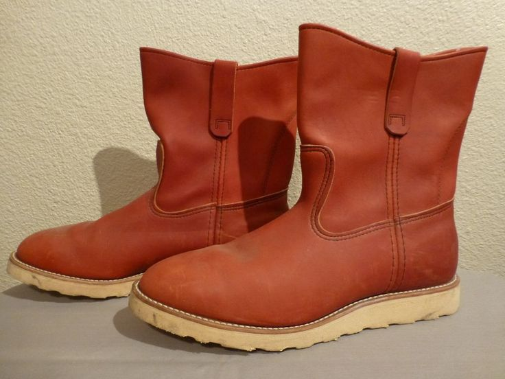 VINTAGE RED WING IRISH SETTER PULL ON MOTORCYCLE WORK BOOTS MENS ...