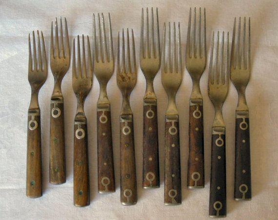 Antique Primitive American Civil War Era Wood Handle Metal