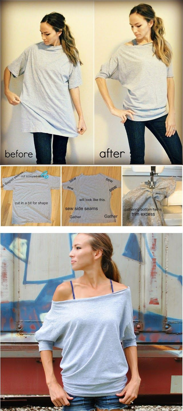 Turn your Old Tshirt into a Trendy stuff inn a simple way... and more tshirt diy ideas...!!