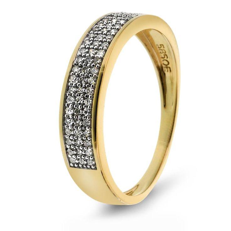 Ring i gull med diamant 0,32 ct WSI - Juvelen gullsmed