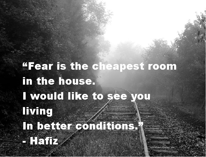 I hate that fear paralyzes me sometimes. I think it is time to kick it to the curb!