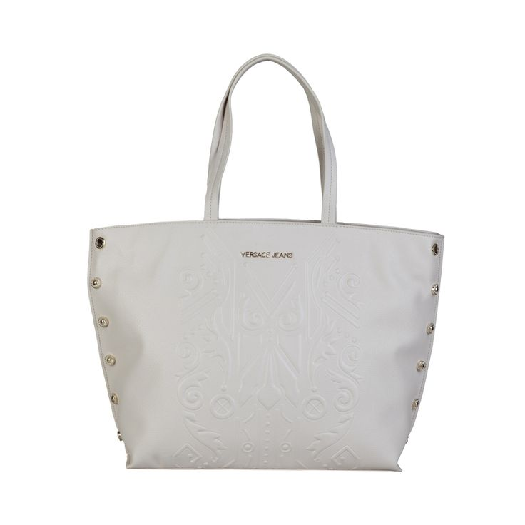 Versace Jeans – E1VPBBF6_75605 – Shopping Bag of eco-leather, 2 handles, zip fastening, lined interior, dust bag included. Inside it, one zip pocket, two inside pockets. It is of size: 43*29,5*14 cm. https://fashiondose24.com