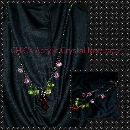 Acrylic Crystal Necklace