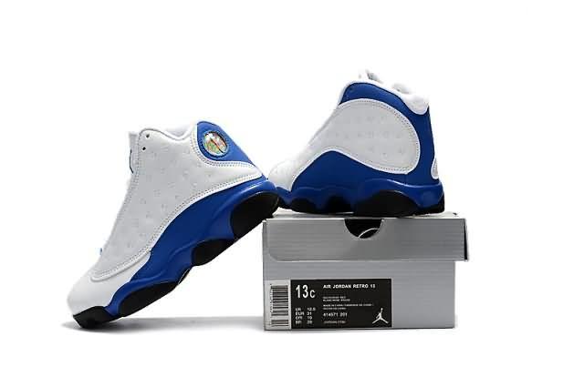 Cheap Jordan 13 Kid 2017 shoes white Blue whatsapp:8613328373859