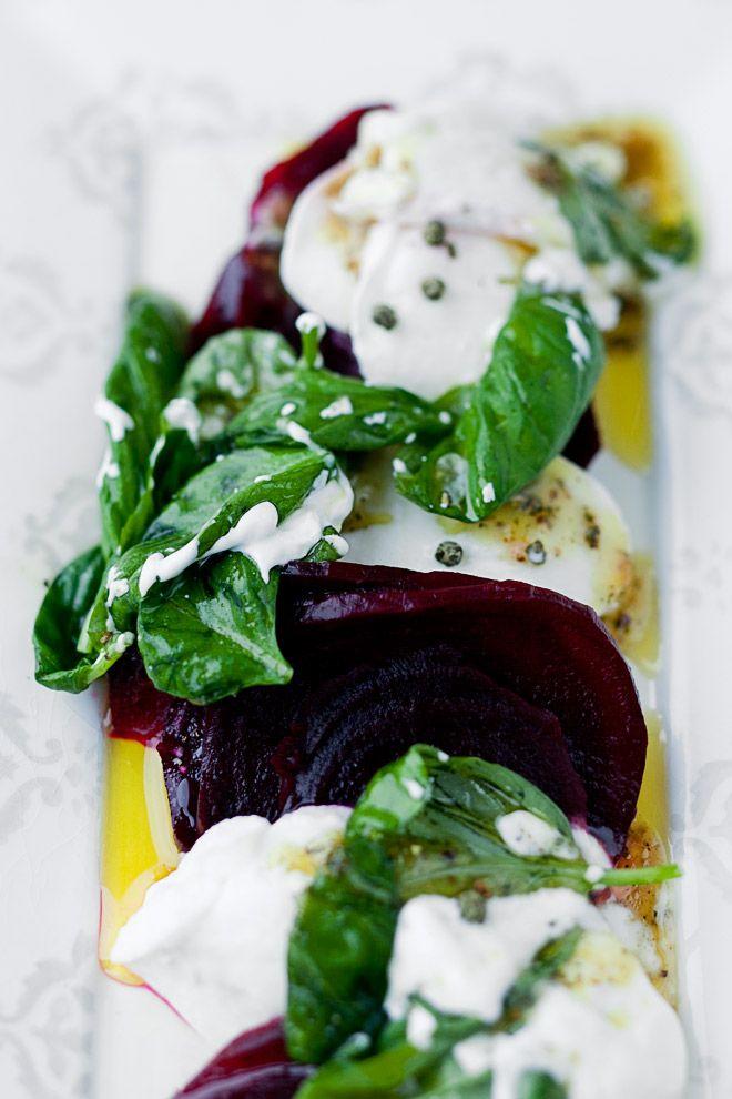 Roasted Beet Caprese Salad