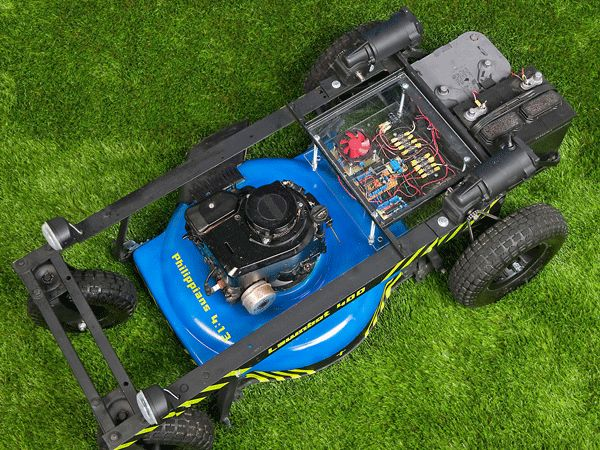Zero turn arduino controlled lawn mower.  Step aside John Deere...
