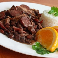 Feijoada - The national dish of Brazil,  a delicious and smoky black bean and meat stew.