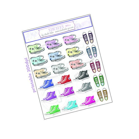 Printable All Star stickers 300dpi  Planner Stickers All