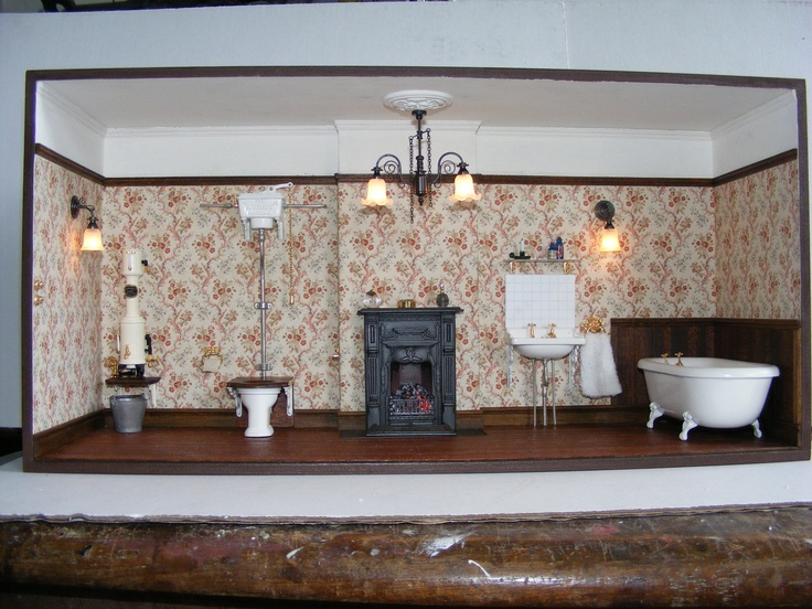 Make this miniature Victorian Bathroom in the 2013 version of Dolls House Projects (Our sister publication) on sale 27th Sept 2012. Copies can be bought online at www.dollshouseprojects.co.uk, over the phone by calling 01778 392007 or on the UK high street from your local Hobbycraft store or WHSmiths