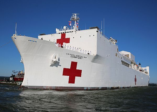 U S Navy Hospital Ship Usns Comfort T Ah 20 Gets Underway From Naval Station Norfolk Us Navy Ships Naval Station Norfolk Us Navy