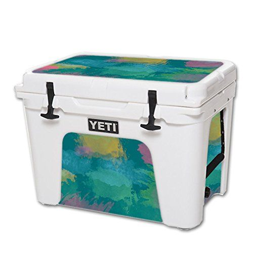 MightySkins Protective Vinyl Skin Decal for YETI Tundra 50 qt Cooler wrap cover sticker skins Watercolor Blue >>> Read more at the image link.-It is an affiliate link to Amazon. #CampKitchen Equipment