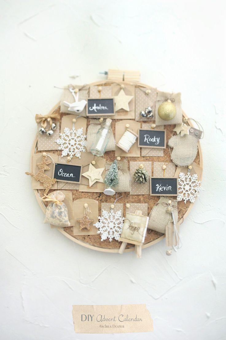 diy-advent-calendar-diy-christmas-gold-white-andreadozier-chalkboard ornament-gold stars-christmas diy