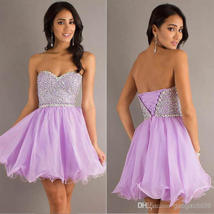 Wholesale Graduation Dresses - Buy Cheap Cute Lilac Chiffon College Graduation Dresses Sparkly Sexy Beaded Homecoming Short Prom Party Cocktail Gowns Girl 2014 SD103 In Stock, $69.64 | DHgate