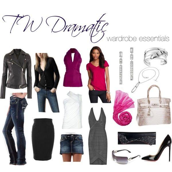 True Winter Dramatic Wardrobe Essentials