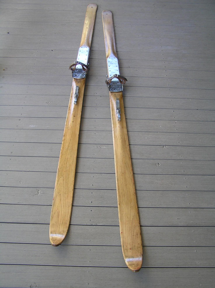 After Vintage Wooden Snow Skis Made By Gresvigs Kandahar