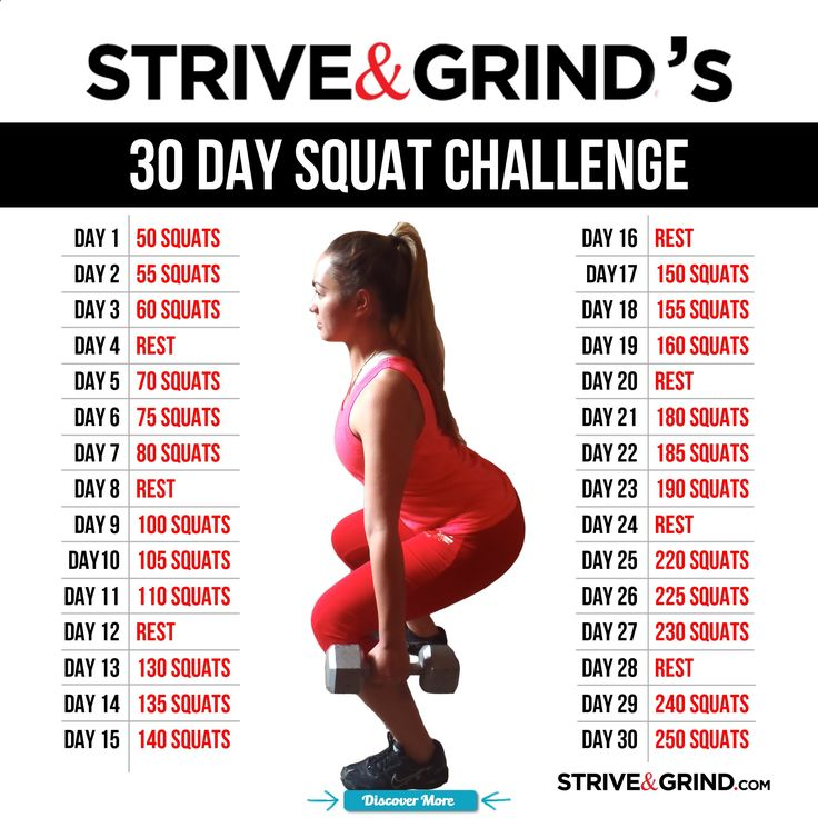 30 day squat challenge before and after - Google Search # ...